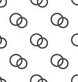wedding rings seamless pattern vector image