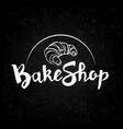 a signboard a logo a template for a bakeshop a vector image