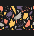 abstract aesthetic hand drawn brush strokes spot vector image