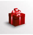 abstract gift box with red ribbon vector image vector image