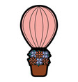 air ballon basket flowers romance vector image