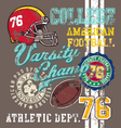 american Football varsity vector image vector image