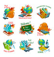 back to school statonery lesson icons vector image