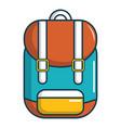 backpack schoolbag icon cartoon style vector image vector image