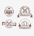 beer festival oktoberfest celebrations set of vector image