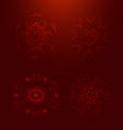 Blood elements with adaptation to background vector image vector image