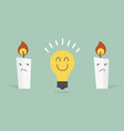 bulb candle vector image