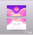 business card with abstract violet background vector image vector image