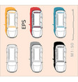 car icons set for architectural drawing