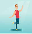 cheerful caucasian man dancer dancing vector image vector image