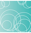 circles on a turquoise field vector image