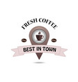 coffee map marker icon vector image