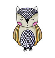 cute owl wild animal of the forest vector image