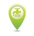 drinking water GREEN map pointer vector image vector image