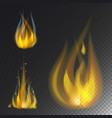 fire flame hot burn icon warm danger and vector image vector image