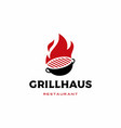 fire grill logo icon vector image