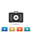 first aid kit icon medical box with cross vector image vector image