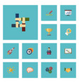 flat icons limit businessman coin and other vector image vector image
