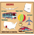 Flat map of Arizona vector image vector image