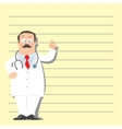 Funny man doctor vector image vector image