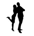 girl hugs guy silhouette vector image