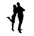 girl hugs guy silhouette vector image