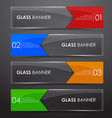 Glass banner with arrow vector image vector image