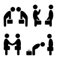 greeting situation icons vector image vector image