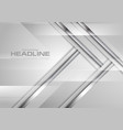 grey abstract hi-tech background with silver vector image vector image