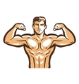 gym logo bodybuilder bodybuilding or vector image vector image
