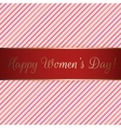 Happy Womens Day red festive Ribbon vector image