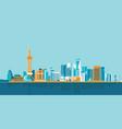 hong kong big city skyscrapers flat design vector image