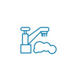 hygienic procedures linear icon concept hygienic vector image vector image