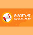 important announcement information and attention vector image vector image