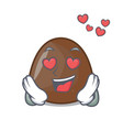 in love chocolate candies mascot cartoon vector image