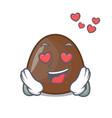 in love chocolate candies mascot cartoon vector image