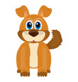 isolated cute dog vector image vector image