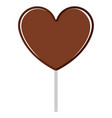 isolated heart shaped chocolate marshmallow icon vector image vector image