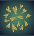 jewelry gold glitter of love heart symbol vector image