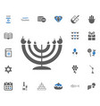 jewish holiday hanukkah icons set vector image vector image