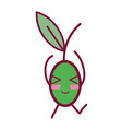 kawaii cute funny cherry fruit vector image vector image