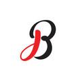 letter jb simple curves logo vector image vector image