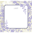 lilac blossom background vector image vector image