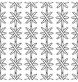 Line and cross seamless pattern 2603 vector image