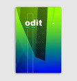 linear minimal trendy brochure design cover vector image vector image
