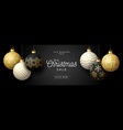 luxury christmas sale horizontal banner christmas vector image
