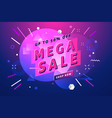 mega sale banner and poster vector image