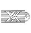 modern enrichment torus moulding net work vintage vector image vector image