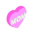 Mother Day Heart isometric 3d icon vector image vector image