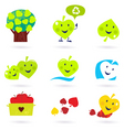 nature and recycle icons vector image vector image